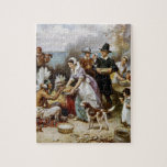 """First Thanksgiving Jigsaw Puzzle<br><div class=""""desc"""">This watercolor depicts the first thanksgiving in an artistic!</div>"""