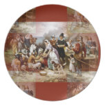 first thanksgiving party plate