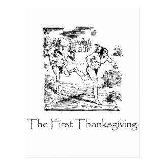 First Thanksgiving Postcard