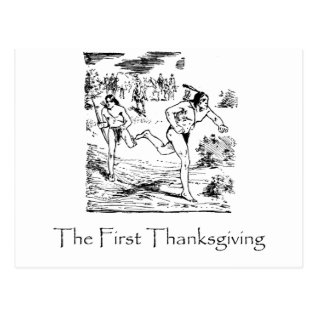First Thanksgiving Postcard at Zazzle
