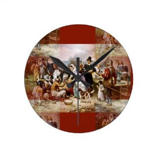 first thanksgiving round clock