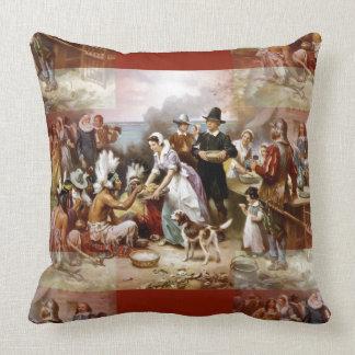 first thanksgiving throw pillow