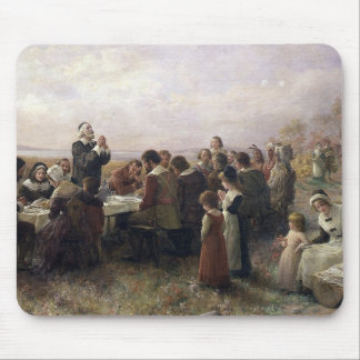 First Thanksgiving Vintage Painting Mouse Pad