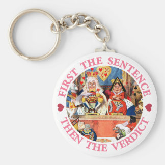 FIRST THE SENTENCE, THEN THE VERDICT, KEYCHAIN