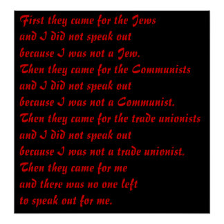 First they came for poster