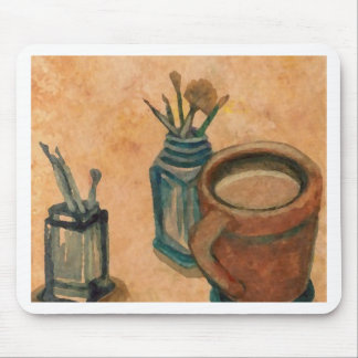 First Thing in the Morning CricketDiane Coffee Art Mousepads
