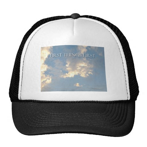First Things First Sky Mesh Hat