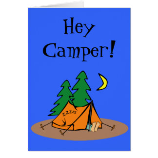 First Time at Camp Card