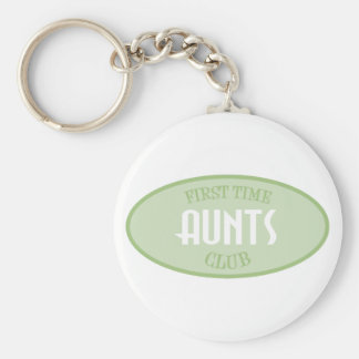 First Time Aunts Club (Green) Basic Round Button Keychain