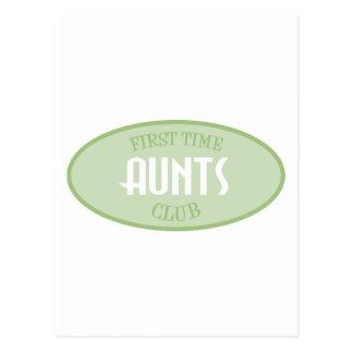 First Time Aunts Club (Green) Postcard