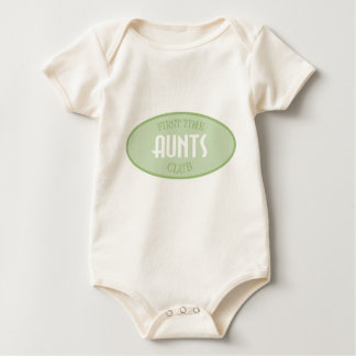 First Time Aunts Club (Green) Bodysuits