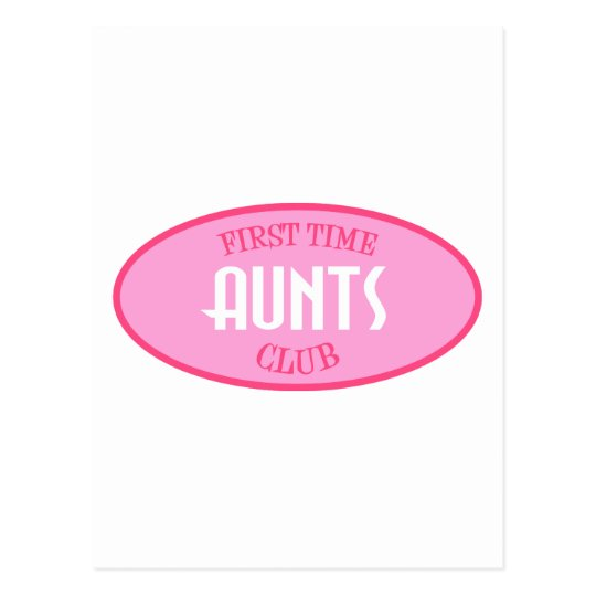 First Time Aunts Club (Pink) Postcard
