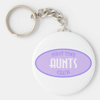 First Time Aunts Club (Purple) Keychain