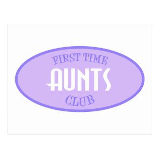 First Time Aunts Club (Purple) Postcard