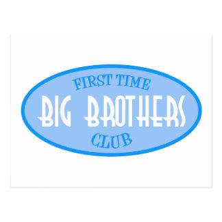 First Time Big Brothers Club (Blue) Postcard