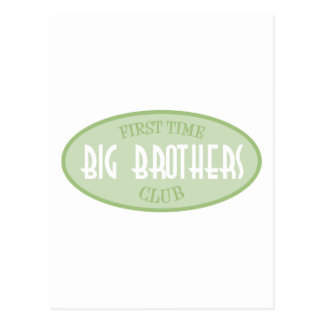 First Time Big Brothers Club (Green) Postcard