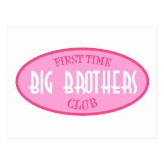 First Time Big Brothers Club (Pink) Postcard