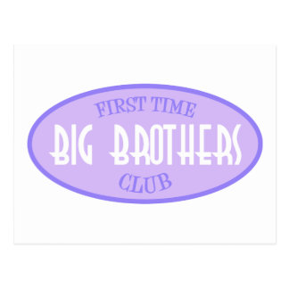 First Time Big Brothers Club (Purple) Postcard