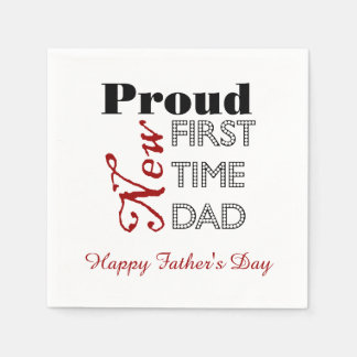 First Time Dad Father's Day Paper Napkins