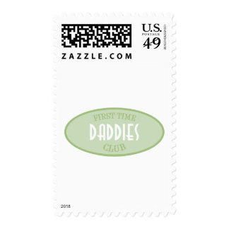 First Time Daddies Club (Green) Postage Stamps