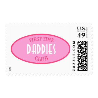 First Time Daddies Club (Pink) Postage Stamp