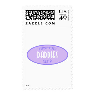 First Time Daddies Club (Purple) Postage Stamps