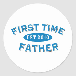 First Time Father 2010 Classic Round Sticker
