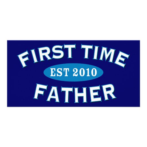First Time Father 2010 Personalized Photo Card