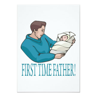 First Time Father 5x7 Paper Invitation Card