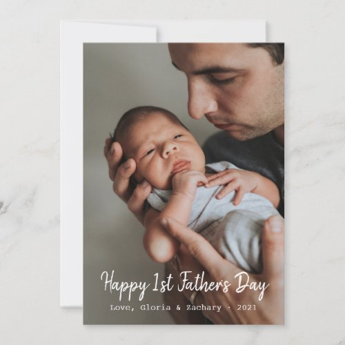 First Time Fathers Day Photo Holiday Card