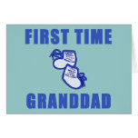 First Time Granddad Tshirts and Gifts Greeting Cards