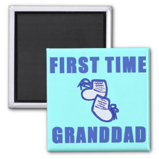 First Time Granddad Tshirts and Gifts Magnet