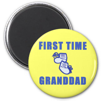 First Time Granddad Tshirts and Gifts Fridge Magnets
