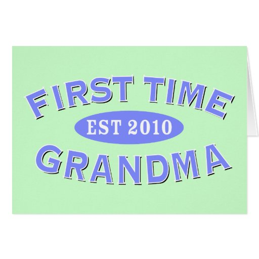 First Time Grandma 2010 Card