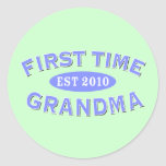 First Time Grandma 2010 Classic Round Sticker