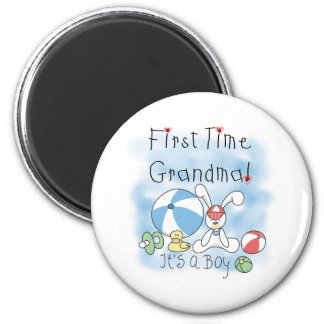 First Time Grandma Baby Boy 2 Inch Round Magnet