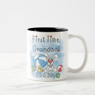 First Time Grandma Baby Boy Two-Tone Coffee Mug