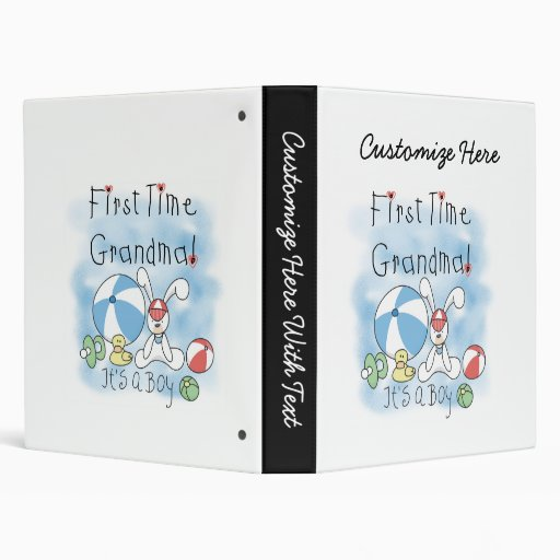 First Time Grandma of Boy Gifts 3 Ring Binder