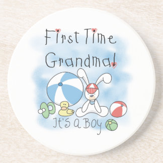 First Time Grandma of Boy Gifts Coaster