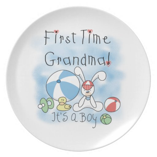 First Time Grandma of Boy Gifts Dinner Plates