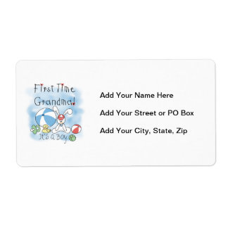 First Time Grandma of Boy Gifts Custom Shipping Labels