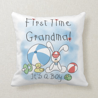 First Time Grandma of Boy Gifts Pillows