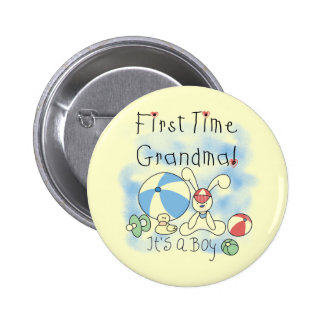 First Time Grandma of Boy Tshirts and Gifts 2 Inch Round Button