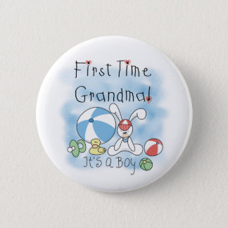 First Time Grandma of Boy Tshirts and Gifts Button