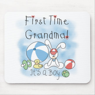 First Time Grandma of Boy Tshirts and Gifts Mouse Pad