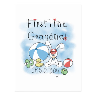 First Time Grandma of Boy Tshirts and Gifts Postcard