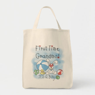 First Time Grandma of Boy Tshirts and Gifts Tote Bag