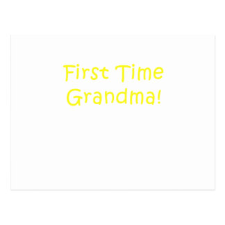 First Time Grandma Postcard