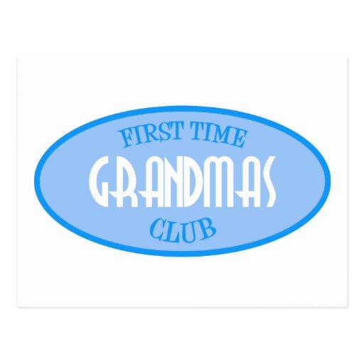 First Time Grandmas Club (Blue) Postcard