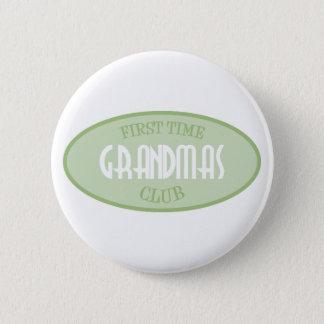 First Time Grandmas Club (Green) Pinback Button